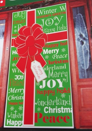 CHRISTMAS DOOR COVER DECORATION 30 INCHES X 60 INCHES LOT 3