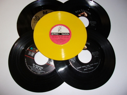 Set of 5 45rpms-Highwaymen,Hank Snow,Marvin Rainwater,Jimmy Elledge,The Sandpipers, Mitchell Miller