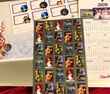 BN Christmas Collection. XMas Gift Tags, Note Pad, Stickers and 2020 Wall Calendar!!