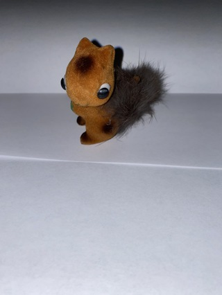 Cool vintage small fuzzy crafting brown  squirrel