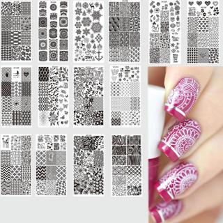 12x6cm 32 Designs Fashion/Beauty Pattern Steel Stamping Plates Nail Art DIY Polish Printing Nail T