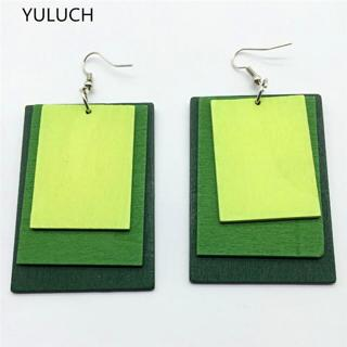 new design personality Throad  latest  good quality wood colorful butterfly earrings jewelry pair