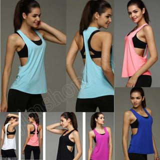 Fashion Women Workout Tank Top T-shirt Sport Gym Clothes Fitness Yoga Vests