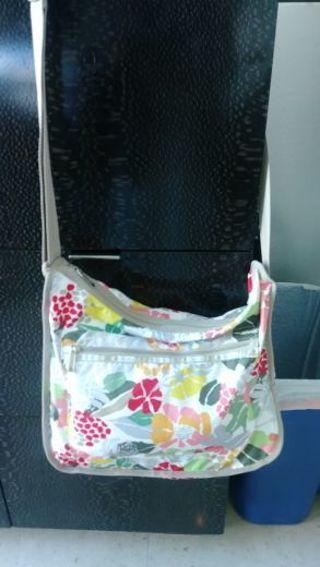 LeSportsac Large Messenger Bag- floral print