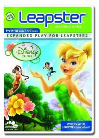 Leapster Learning Game For Leapster 2 Disney Fairies ~ 4-7 Yrs.