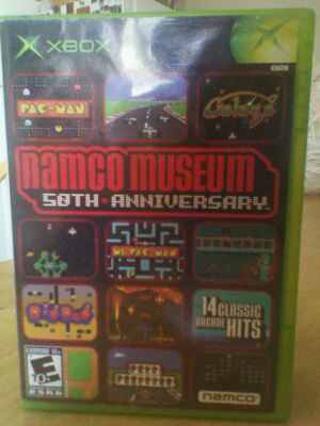 xbox game,namco museum 50th anniversary