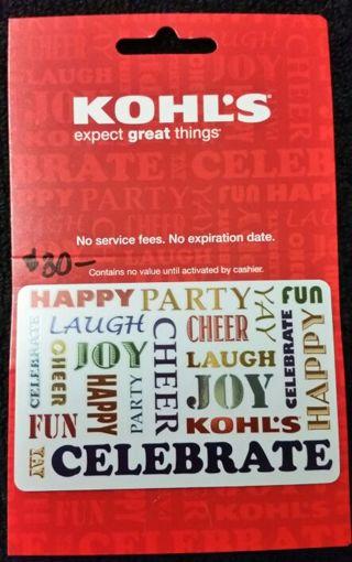 KOHLS $30 GIFT CARD!!!!!!!!! START YOUR BIDDING :)