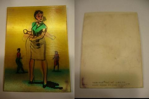 1950's Vari-Vue lenticular of girl doing the twist.