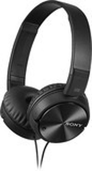 Sony - Noise-Canceling Wired On-Ear Headphones - Black