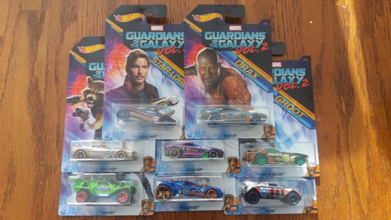 GUARDIANS OF THE GALAXY 2 HOT WHEELS