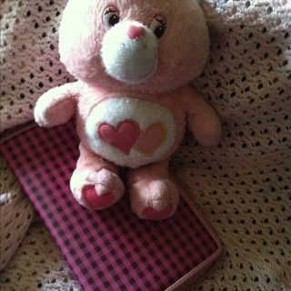 Care Bear Pink Heart Adorable! 50% 0ff when over 1500 Credits!