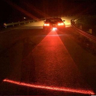 [GIN FOR FREE SHIPPING] Car LED Laser Fog Light Anti Collision Taillight Brake Warning Lamp