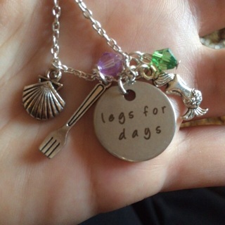Legs for days mermaid necklace