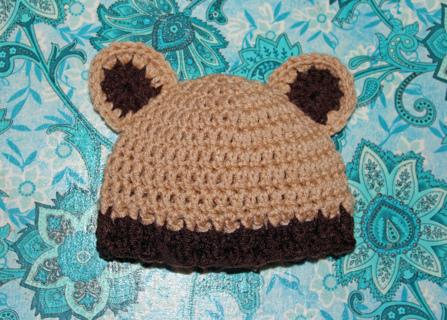 Free infant teddy bear hat cap beanie crochet pattern crochet free infant teddy bear hat cap beanie crochet pattern dt1010fo