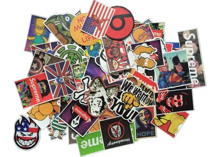 RANDOM PICK OF 5 TOP SHELF Vinyl Stickers- Skateboards, Helmets, Cars, Bikes, Laptops, Luggage