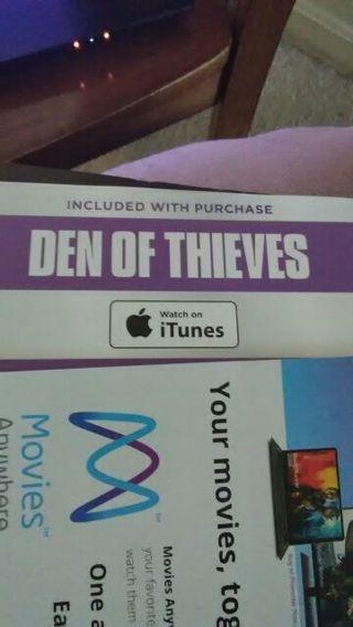 iTunes code Den of Thieves