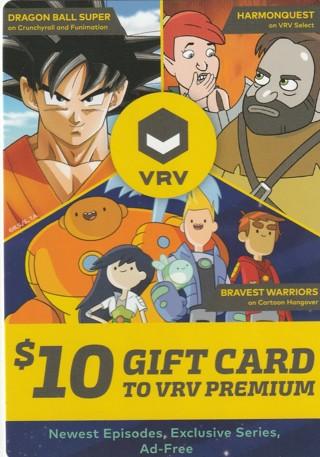 Free: $10 GIFT CARD TO VRV PREMIUM - Gift Cards - Listia com