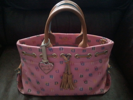 Authentic Dooney Bourke Pink Handbag