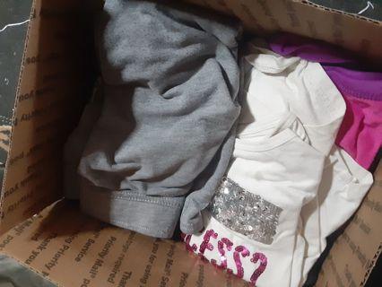 Medium flat rate box full of girls 4t clothes