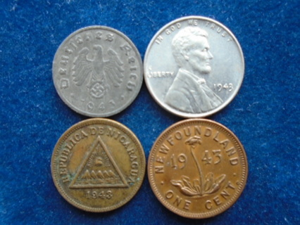 U.S. & WORLD COINS 1943 THIRD REICH FULL DATES!