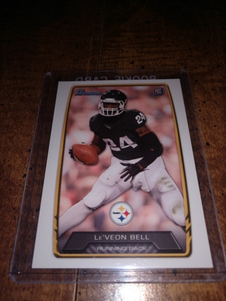 2013 Topps Bowman football Le'Veon Bell , running back,rookie Pittsburgh Steelers