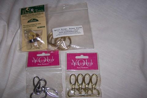 Handbag purse hardware for sewing