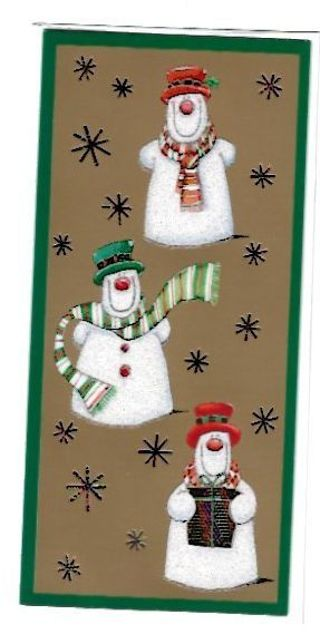 Christmas Card With Envelope Snowmen