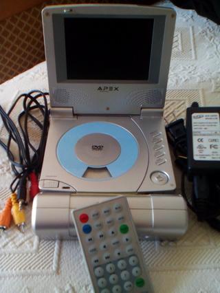 APEX DIGITAL - PORTABLE DVD PLAYER {EUC WORKS!} - Progressive Bonuses!  *  MEDIA PACKAGE!