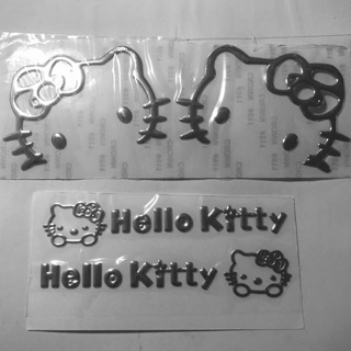 Hello Kitty 3D Silver Vinyl Car Mirror Handles Decals