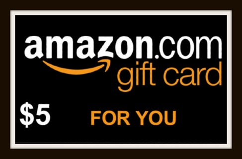$5.00 Amazon Gift Card Code Sent to Winner via Digital Delivery!