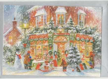 Merry Christmas Card Unused With Envelope