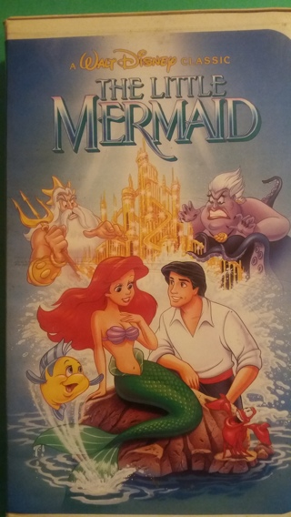 VHS movie  disney  the little mermaid  free shipping