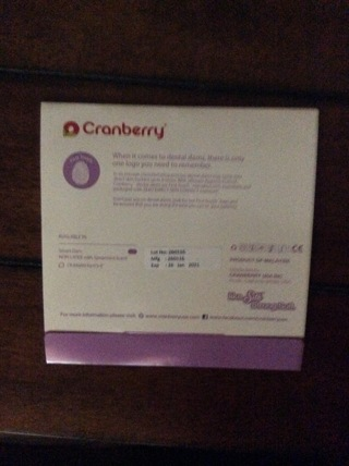 Cranberry Dental Dam Spearmint Safe Sex