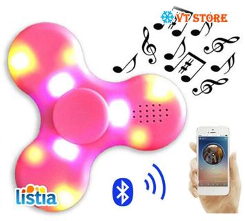 Flashing Lights LED Mini Bluetooth Speakers Potable Funny Lloudspeaker Fingertip Ghyro Bluetooth