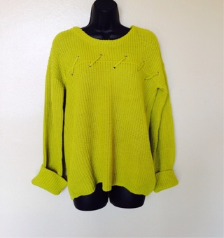 NWOTs Chartreuse Sweater, Size Large