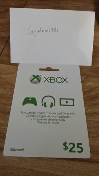 Free Xbox Live Gift Card 25 Video Game Prepaid Cards Codes