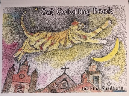 CAT COLORING BOOK BY NINA STRUTHERS