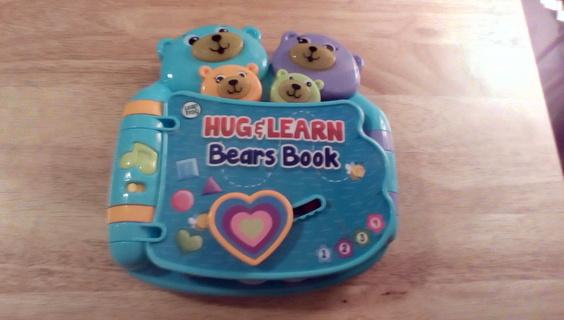 Leap Frog Hug & Learn Bears Book: EUC