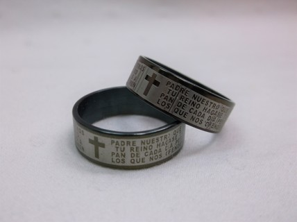 2 Religious Men's Rings Size 11