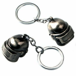 New Playerunknowns Battlegrounds PUBG Level 3 Helmet Keychain Key Ring Pendant