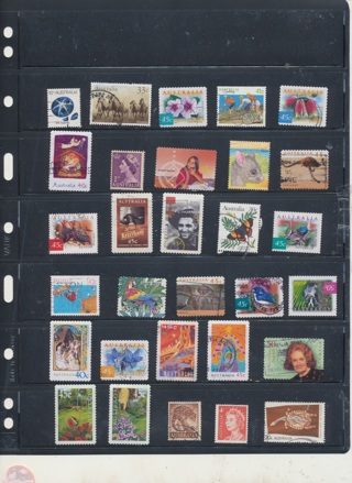 (30 + 5 Bonus) Stamps from Australia,  All Different, Vintage, Used, Cancelled - AUS-139