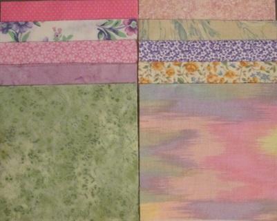 40 Fabric Charm Squares - Pastels