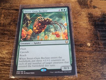 Magic the gathering mtg Sweet Gum Recluse rare card Commander Legends