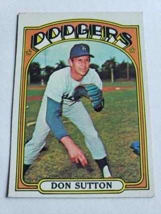 1972 topps Don Sutton vintage baseball card