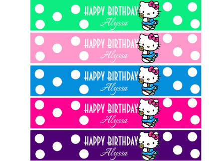 FREE Hello Kitty Customized Water Bottle Labels