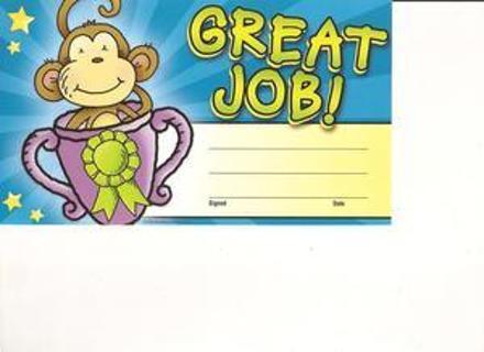 free eight great job certificates plus bonus stickers other