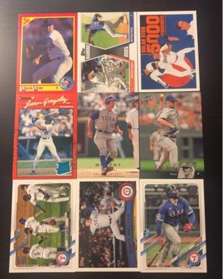 9 Texas Rangers baseball cards