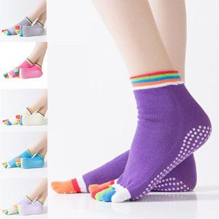 Yoga Socks Non Slip Pilates Massage 5 Toe Socks with Grip Exercise Gym
