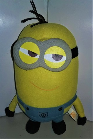 """2014 """"Despicable Me"""" Minion TIM stuffed (foam) character doll - 10"""" tall - non-talking  VG condition"""