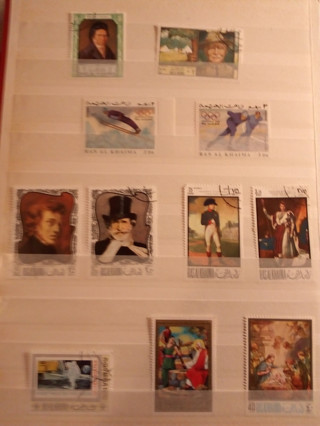 sale off page #2 ! 11 all different big stamps - L@@K - - #B-RO S5#5